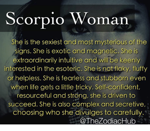 Dealing With Scorpio Woman. How to Handle a Scorpio Woman